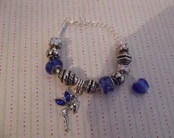 Fairy and Heart European style Charm Bracelet.