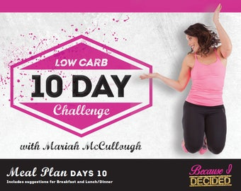 10 Day Low Carb Meal Plan & Recipes to Jump Start Your Weight Loss!