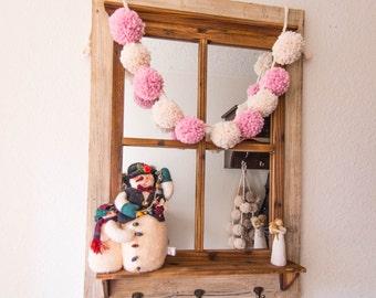 Yarn Pom Pom Garland / Super Bulky / Snow White Garland / Blossom & Fisherman