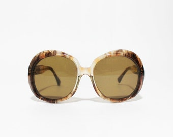 1960s Rounded Oversized Sunglasses