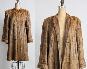 SALE 1940s FOX FUR Coat