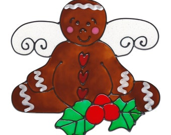 Gingerbread Angel  Window Cling
