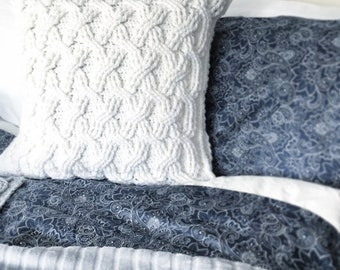CROCHET PATTERN, Pillow Patterns, The Hudson Pillow Pattern, Crochet Pillow Pattern, Pillow Pattern, Crochet Cables,  Pillow Pattern