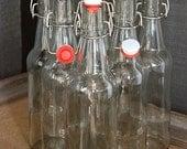 Set of 16oz Glass Bottles, Kombucha Bottles, Grolsch Style Beer Bottles for Home Brewing made with Swing Cap EZ Cap,  Soda Bottles, Kefir