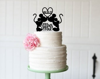 Mickey And Minnie Wedding Cake Topper Custom Personalized For