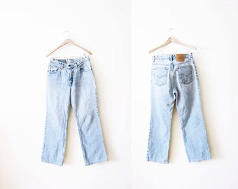 Levis 517 Jeans / Vintage Levi's 517 Denim Jeans / Mom Jeans / Grunge / Bootcut / High Waisted Jeans 30