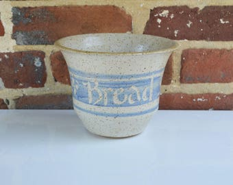 Vintage Bread Vase Stoneware Pottery