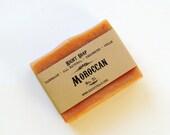 Moroccan clay Soap - sensitive skin soap, All Natural Soap, Unscented Soap, Scrub Soap, Vegan Soap, christmas gift