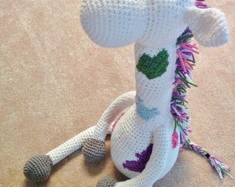 Giant Giraffe Plushie [Crochet Pattern]. Handmade. Crochet Toy. Nursery Decor. Amigurumi Giraffe. Stuffed Animal. Soft Toy. Baby Shower Toy