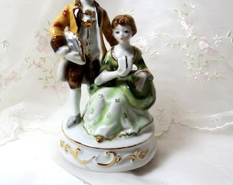Victorian Figurine Couple Music Box