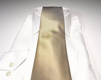 Champagne Brown Tonal Solid Tie