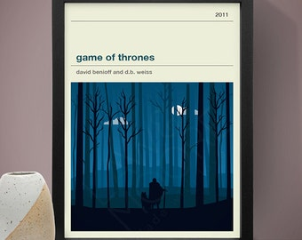 Game of Thrones (Jon Snow) Poster, TV Print, Print, Poster