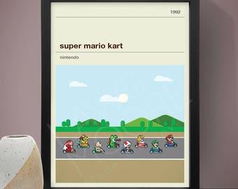 Super Mario Kart Gaming Print, Gaming Print, Games, Super Mario Kart Poster
