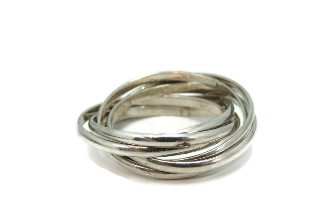 vintage silver s puzzle ring or sterling thumb ring