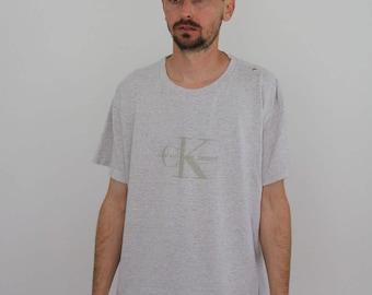 Calvin Klein Jeans 90s Distressed Soft Thin Tee Medium