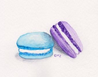 French Macarons - Original Watercolour Illustration