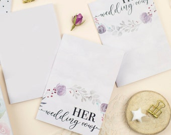 His and Hers Wedding Vows Notebook / Set of 2 / Write Your Own Vows / Pocket Journal / Gift / A6 / Stationary / Birthday / Stocking Filler