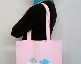 Pink Unicorn Tote Bag Pink Tote Bag Pastel Pink Cute Kawaii Unicorn Gift Galaxy Print Fantasy Cute Tote Bag