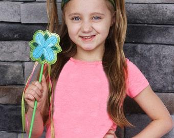 Poppy Princess Tiara & Wand ~ Flower Leaf Tiara and Wand ~ Happy Dance Tiara and Wand ~ Flower Wand ~ Garden Tiara ~ Trolls Tiara and Wand