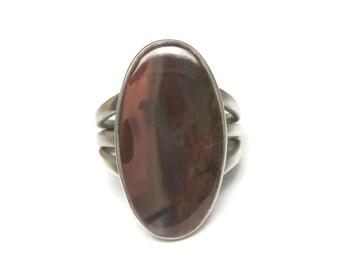Vintage Sterling Southwestern Jasper Ring Size 7