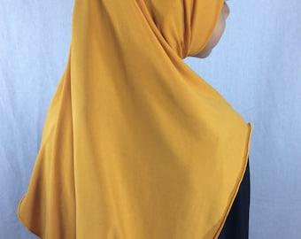 Childrens Hijab Mustard