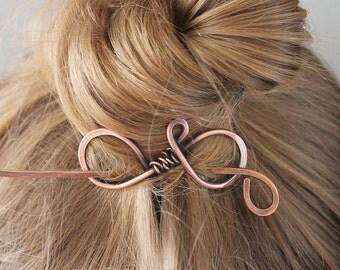 Plain Copper Hair Stick, Metal Hair Clip, Hair Pin, Hair Barrette, Shawl Pin, Handmade Hair Accessories for Women Mom Gift for Her