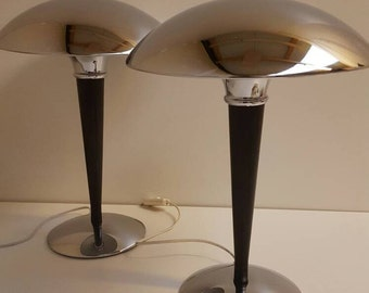 One Mushroom Table Lamp Art-Deco style, modernist light, vintage lamp