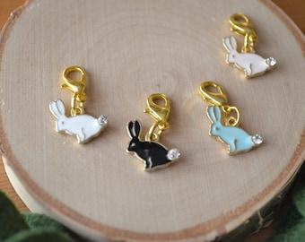 Rabbit Progress Marker | Rabbit Stitch Marker | Rabbit Progress Keeper | Rabbit Knitting Marker | Easter Stitch Marker