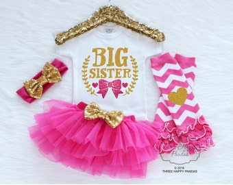 Big Sister Shirt, Big Sister Announcement, Big Sister Gift, Girl Toddler Shirt, Big Sister Little Sister Outfits, Big Sister Shirt F10