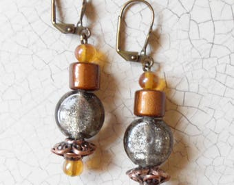 earrings-pendant-gray-copper-brass-oxidized-antique gold-taupe-long-vintage-classic-bohemian-chic-boho-jewelry-evening-bal-graduation-BO123