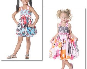 Girls LOLALOU Dress Sewing Pattern - Girl Lola Lou Halter Dresses & Tops Shorts OOP 6271