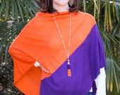 Orange and Purple Tassel Necklace - Clemson Jewelry - Gameday Necklace