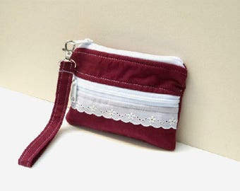 "Small wristlet wallet | 6.5""x5"" 