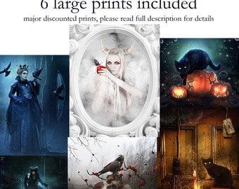 Halloween art print bundle