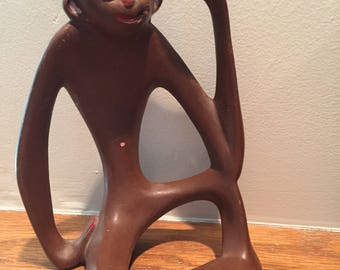 Ceramic Smoking Monkey