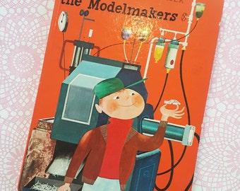 Vintage Miroslav Šašek Matchbook cars book - 1st edition - Mike & The Modelmakers - M Sasek, This is London, This is Paris, childrens book.