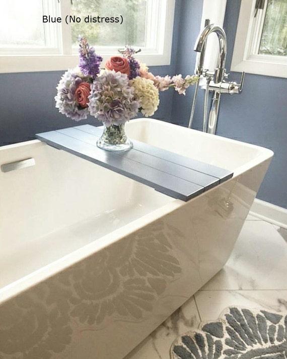 Bath Caddy - Bathtub Tray - Bath Tray - Bath Shelf - Bathroom Decor