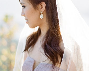 Petite Crystal Gold Drop Earrings, Wedding Earrings, Bridal Earrings, Bridal Earrings Gold, Bridal Earrings, Crystal Earrings, Drop Earrings
