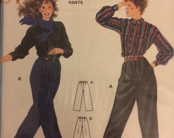 RARE VTG 7224 Burda (1980's). Misses' pants. Size 8-10-12-14-14. Complete, unused, factory folded. Excellent condition.