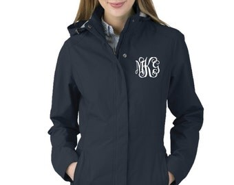 Monogrammed Jacket, Charles River Jacket, Women's Logan Jacket, Monogrammed Coat
