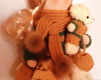 Interior textile handmade doll