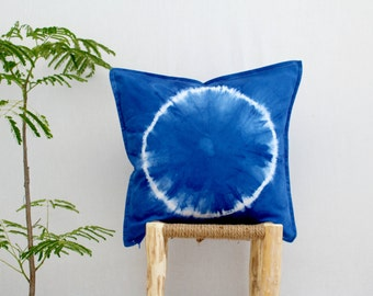 PACIFIC . tie dye cushion cover . pillow . throw cushion . decorative pillow . throw pillow . blue . boho gypsy hippie beach hippy australia