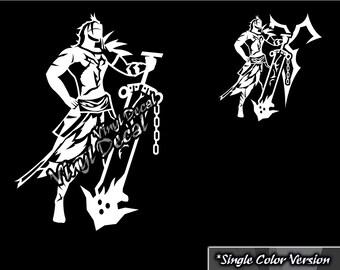 Jecht Vinyl Decal (Final Fantasy Series) *Single Color Version*