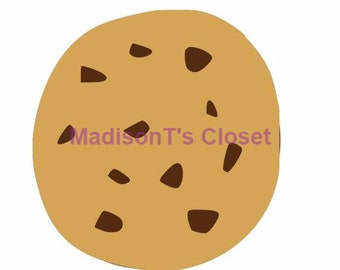 Chocolate Chip Cookie SVG Cutting Digital File Only