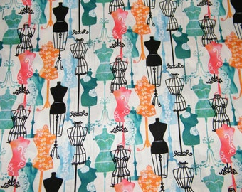 BTY DRESS FORMS Print 100% Cotton Quilt Crafting Fabric by the Yard