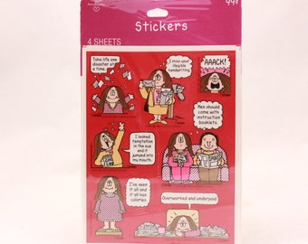 Vintage Cathy 4 Sheet Sealed Sticker Package