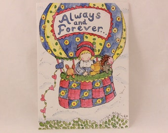 NEW! Vintage Miss you Always by Dayspring Greeting Card and Envelope.