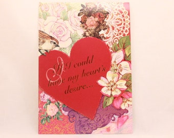 NEW! Vintage Religious Valentine's Day by Dayspring. Single Greeting Card with Envelope.