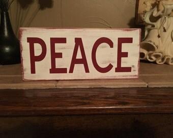 PEACE wood sign