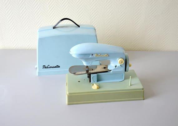 Machine coudre vintage ma cousette modele bleu et vert for Machine a coudre 78